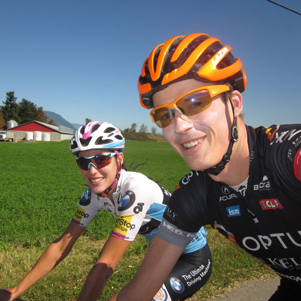 will and sho cycling in the countryside