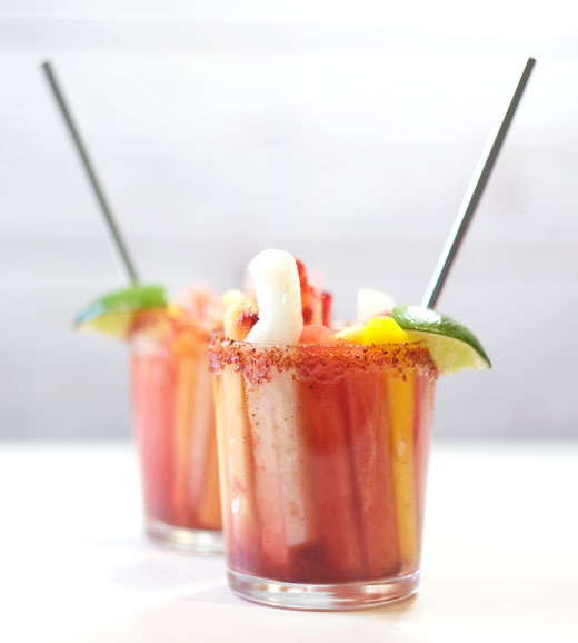 two Mexican fruit cups
