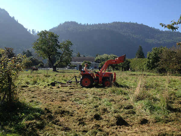 tractor in a field in abbotsford